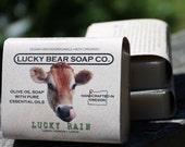 LUCKY RAIN Soap organic vegan Lemon Verbena & Oregon Rain olive oil  essential oils