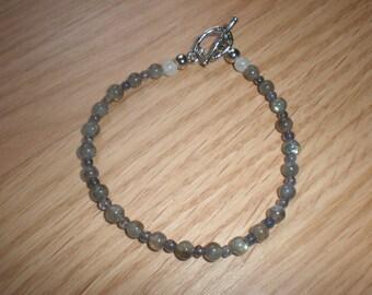 Labradorite, Blue Iolite and Moonstone Bracelet