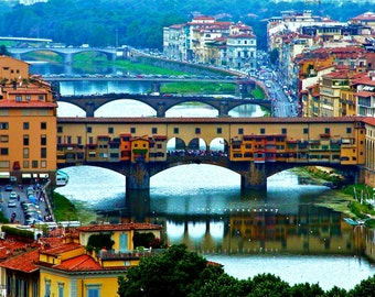 Travel Photography - The Bridges of Florence, Italy - Best Selling, Italian, European, Architectural, Fine Art Photography