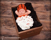 Baby Girl or Boy Basketball Crochet Hat And Net Cocoon Set