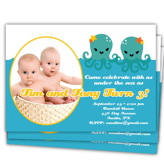 Items Similar To TWINS Under The Sea Birthday