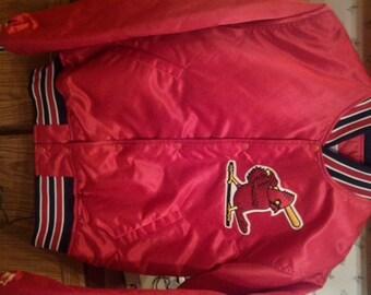 Saint Louis Cardinals Shiny Starter Satin Jacket New