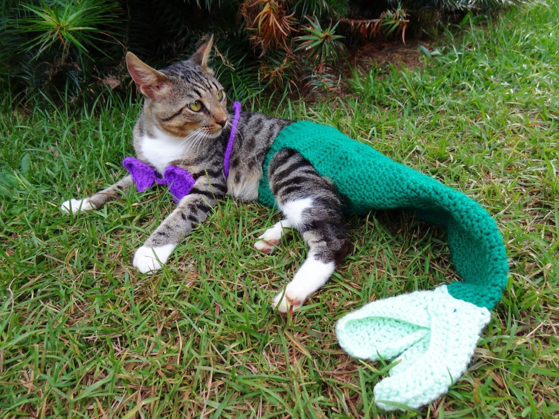mermaid cat costume custom colors the mermaid by iheartneedlework. Black Bedroom Furniture Sets. Home Design Ideas