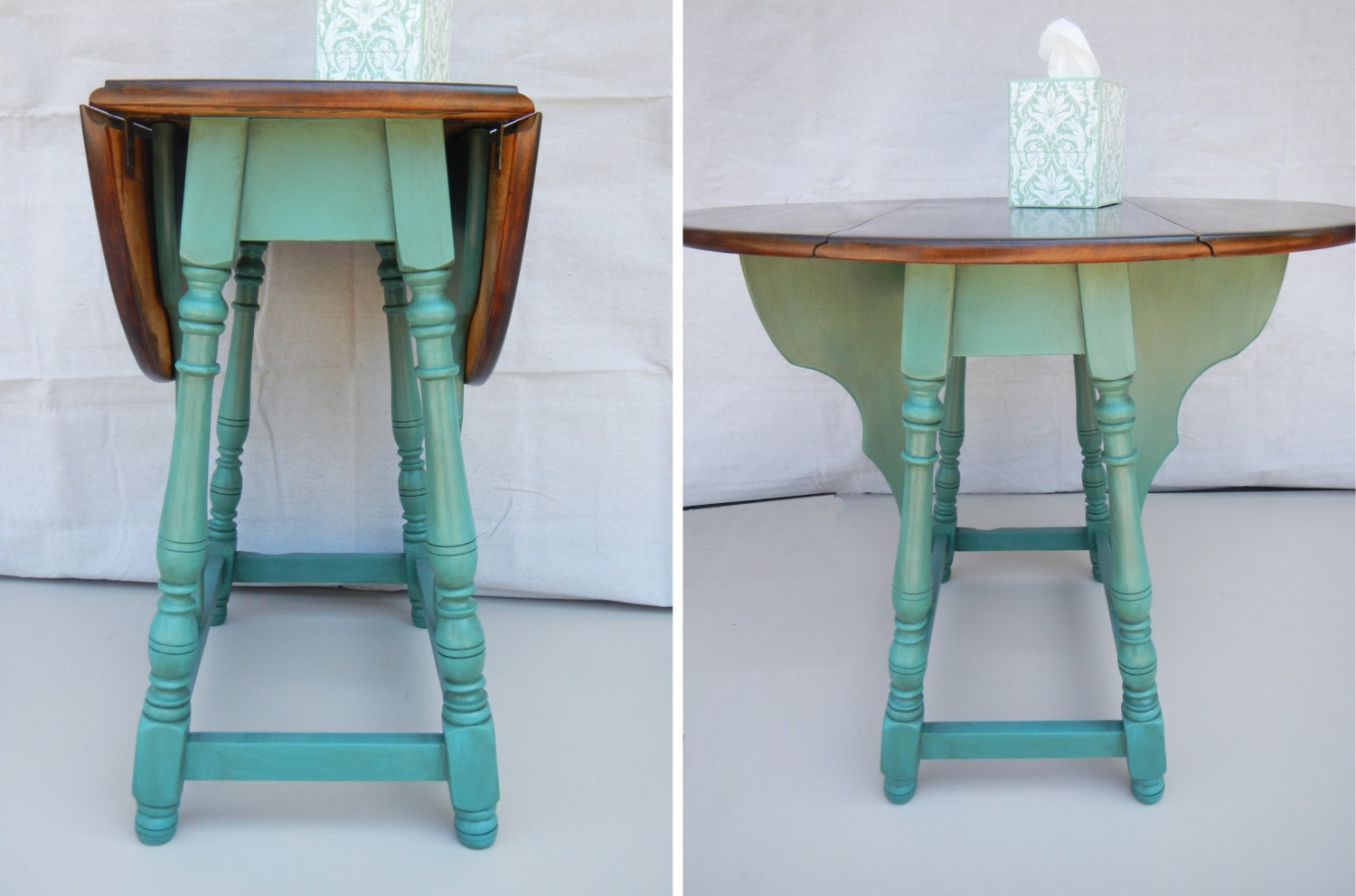 Restored Antique Butterfly Drop Leaf Table By