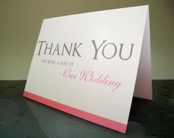 Bridal Party Thank You - Wedding Party Thank You Cards
