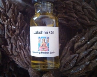 Lakshmi Oil, Voodoo, Hoodoo, Spiritual, Ritual, Anointing,, Pagan, Wiccan