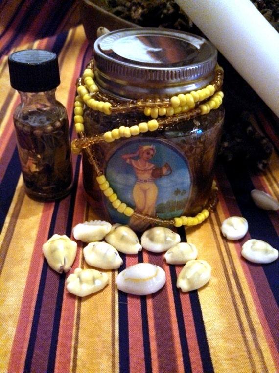 Oshun Honey Jar Ritual Altar Candle Orisha Hoodoo