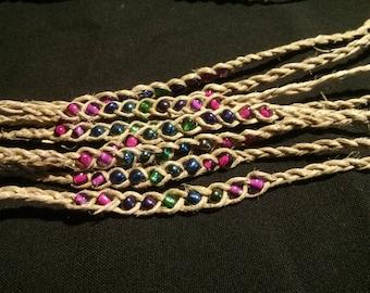 Hemp Wish Bracelet - Blue, Pink, Green