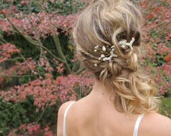 Beach Wedding hair pins, beach wedding hair accessories, destination wedding, set of 2 bobby pins, Bridal Hair, bridesmaid gift