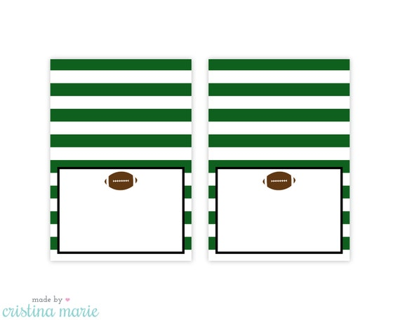 instant download football party table tents printable table tents