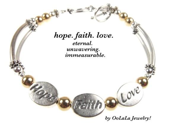 3 wish bracelet hope faith love corinthians bracelet word for Faith hope love jewelry