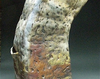 Leaning Wood Fired Barn Ceramic Stoneware Sculpture