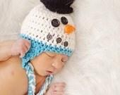 Newborn snowman hat