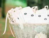 Vintage Wedding Programs with Ribbon Wands - Deposit