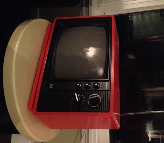 Vintage Orange Quasar TV