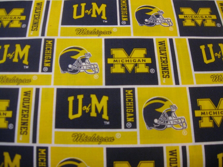 University Of Michigan Fabric Design 097 By The Yard New