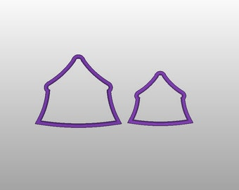 Circus Tent Cookie Cutter - Available in 3 sizes