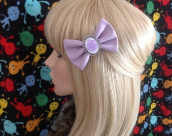 Adventure Time Lumpy Space Princess LSP hair bow clip, rockabilly, psychobilly, kawaii, pin up, alternative, fabric, purple, ladies, girls