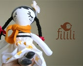 Winter Doll, Rag Doll, Cloth Doll, Fabric Doll , Handmade Doll, Made With Love - Fililishop