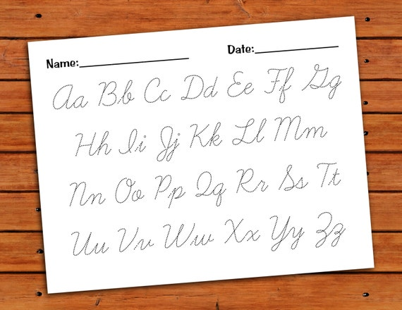 Cursive Alphabet Worksheet – Cursive Letters Worksheet