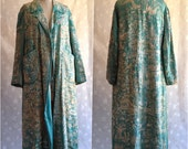 Reserved for C.F.T AMAZING 1920s Vintage Oriental All Over Embroidered Turquoise Coat