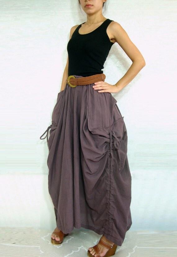 lagenlook maxi skirt unique skirt big by idea2wear