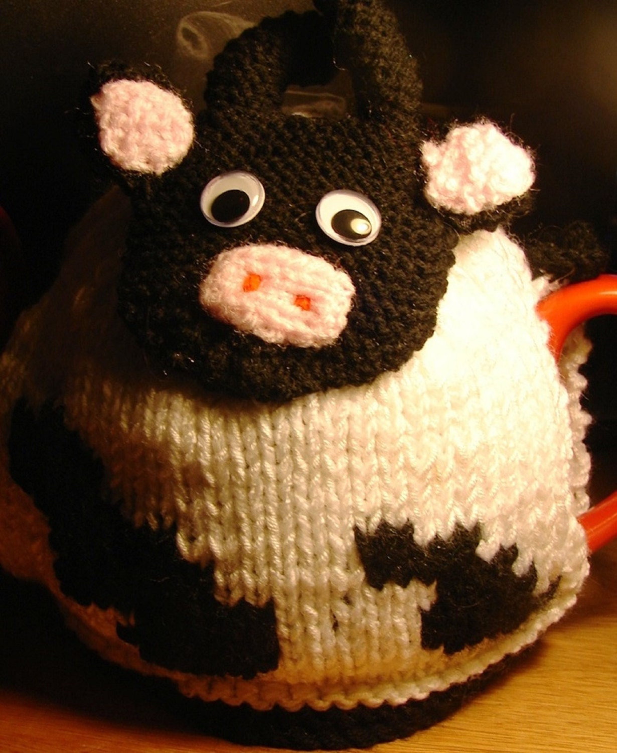 Knitting Pattern For Cow Tea Cosy : TEA COSY Knitting Pattern COW Tea Cosy by KnittingPatternShop