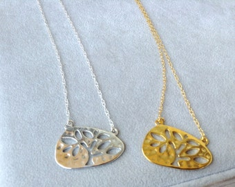 Tree of Knowledge Necklace in Sterling Silver - 18K Yellow Gold Plating