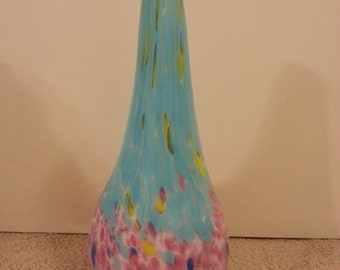 Summery Colored Glass Vase - 17 inches tall