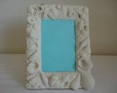 White Seashells Frame - 5x7 - Beach Decor / Seaside / Ocean Decor / Wedding Gift