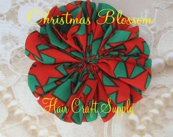 ON SALE --- 3.5 inch Christmas BLOSSOM Flower for baby headbands, clips or crafts no add on charge for multiples