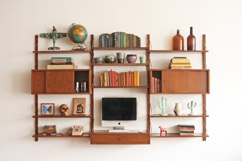cado wall unit mid century modular shelving. Black Bedroom Furniture Sets. Home Design Ideas