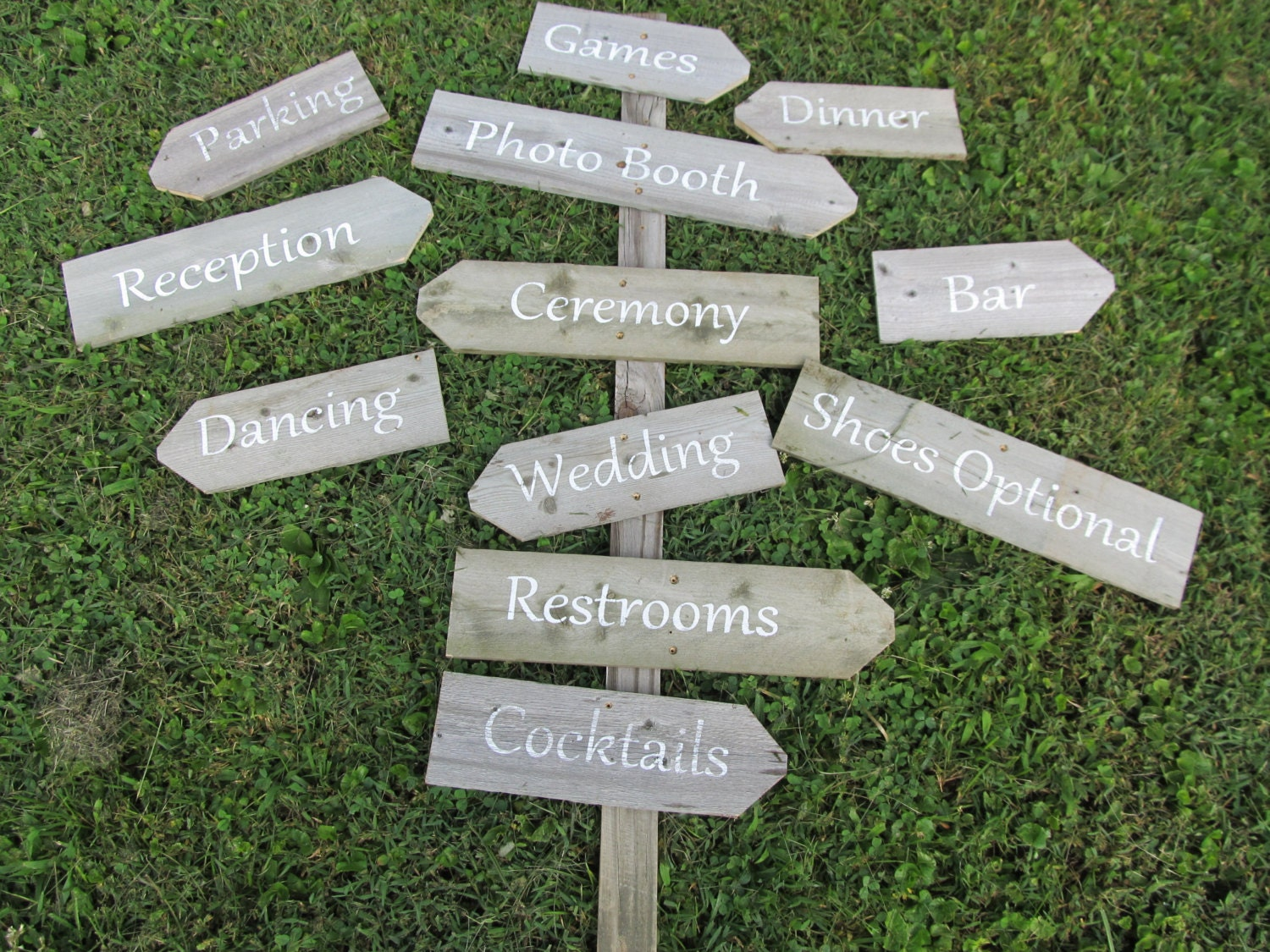 Directional Wedding Signs On A Stake Build Your Own