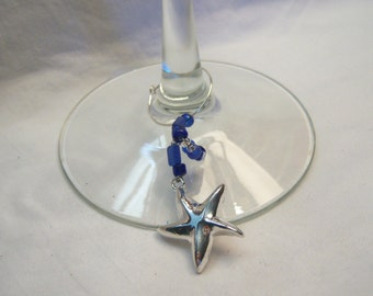 Starfish Wine Charms