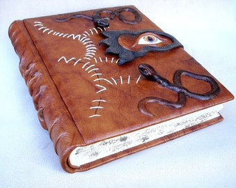 Leather Photo Album, Hocus Pocus Spell Book Inspired, Large Album, Large Book