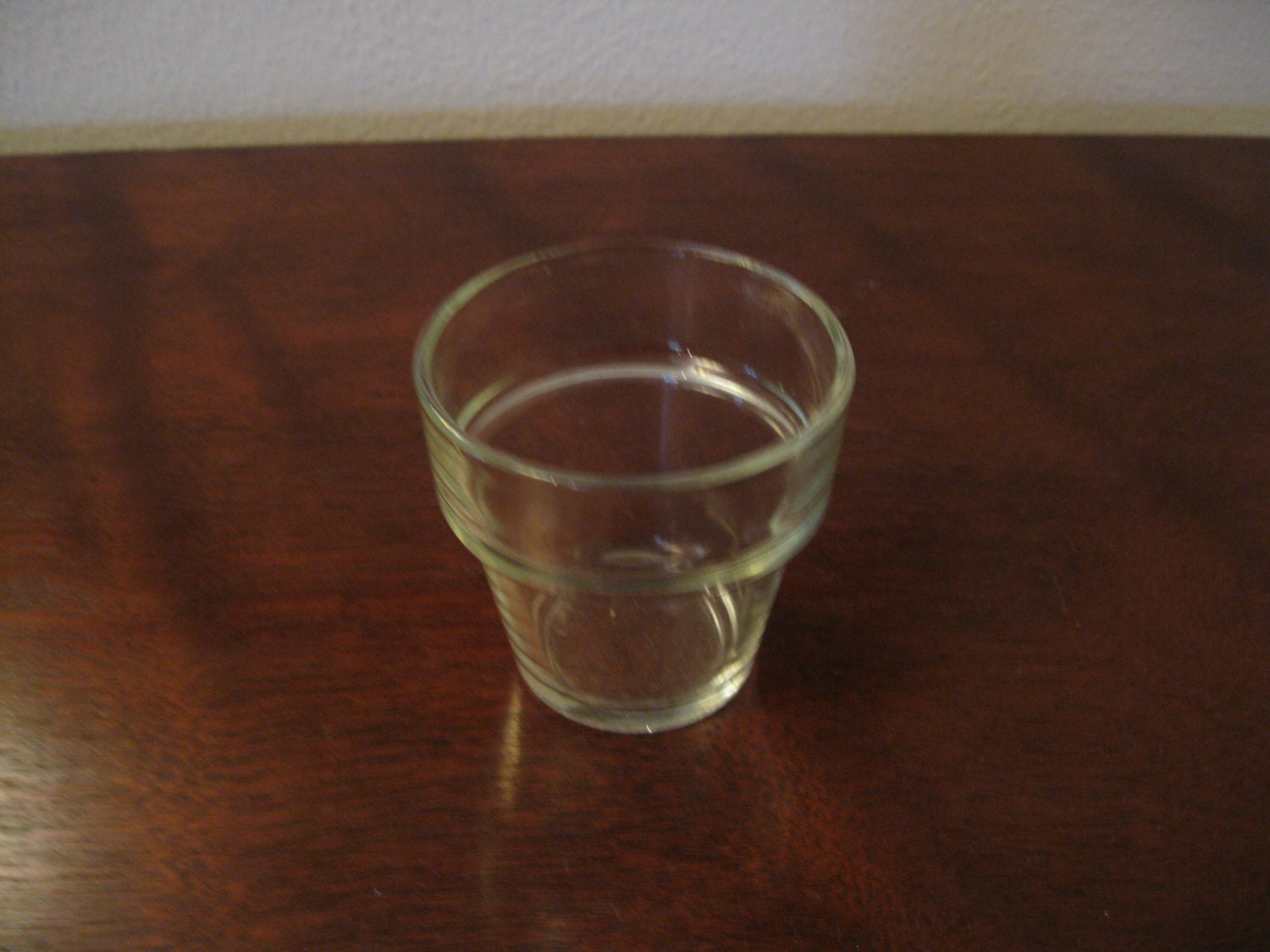 vintage small clear glass flower pot wedding votive candle
