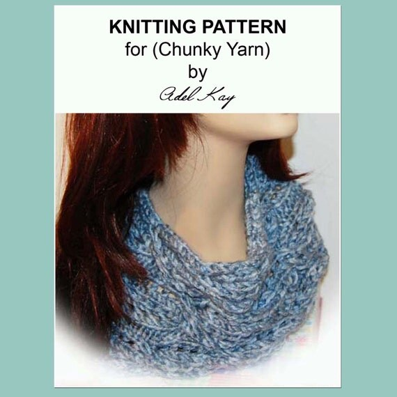 Easy Knitting Patterns For Chunky Yarn : Knitting Pattern PDF Document Pip Chunky Yarn Easy Cable Cowl