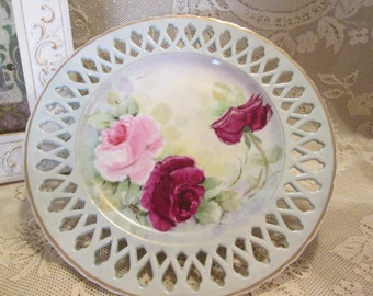 Vintage Rose Plate