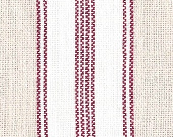 French ticking valance / lined/ blue, cocoa or dark red / French country, French laundry, cottage, farmhouse, cottage