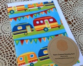 Fabric Covered Greeting Cards - Caravans