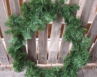 20 inch PVC pine wreath,basic pine, ready to decorate,Christmas,holiday,embellish
