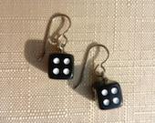 Titanium earrings - Dice earrings - 6 colours to choose from - Hypoallergenic earrings (nickel free)