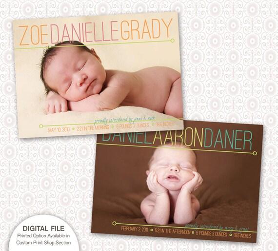 Birth Announcement - Simple Modern