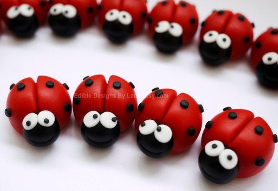 fondant ladybugs