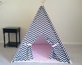 Black and White Chevron Tent  Mat Mix and Match Tent set Made to Order