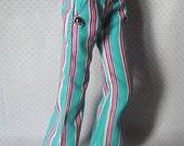 Blythe Flare Pants (magento & cian stripes)