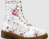 White floral dr. Martens - WendyAndTheMermaid