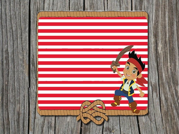 INSTANT DOWNLOAD Jake The Neverland Pirates Blank Filler – Jake and the Neverland Pirates Birthday Invitation Template