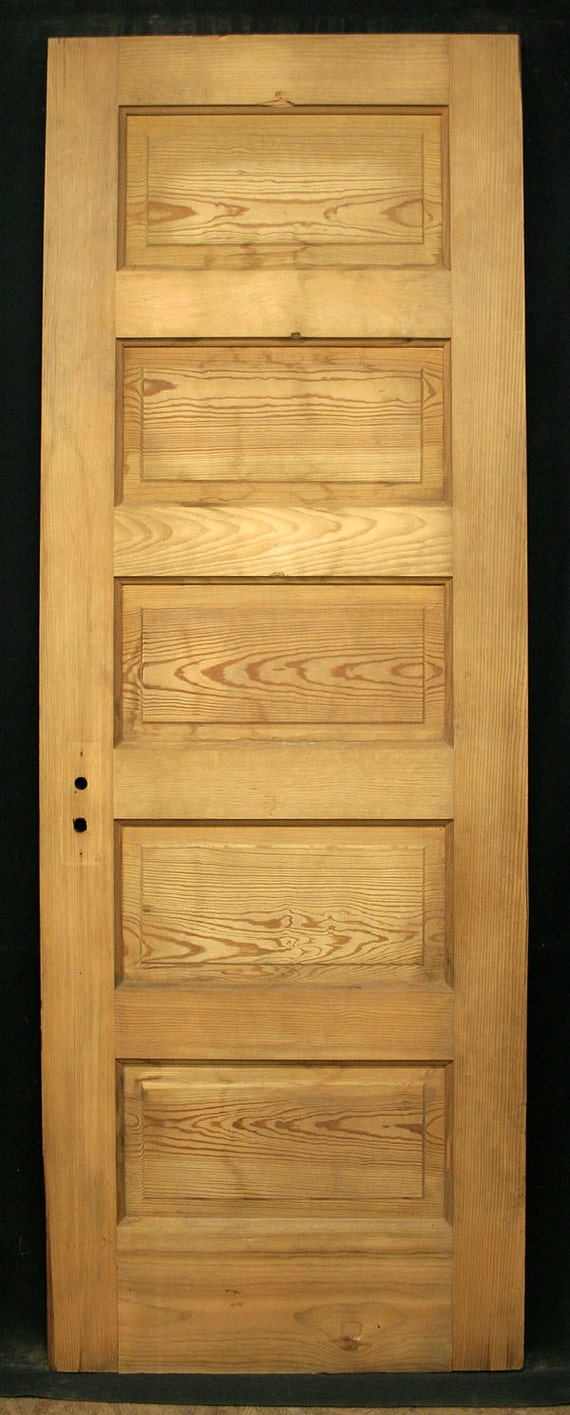 Items similar to 27 x78 antique stripped douglas fir wood for 6 horizontal panel doors