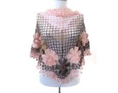 moda mohair shawl with flowers